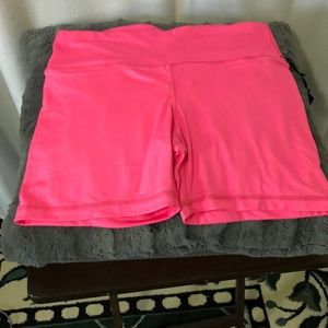 Velocity pink spandex active women short medium
